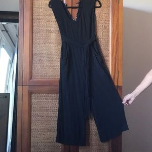 Anthropologie Black Jumpsuit